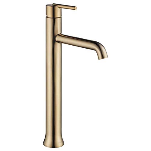 Delta Faucet Trinsic Single-Handle Vessel Bathroom Faucet with Diamond Seal Technology, Champagne Bronze 759-CZ-DST