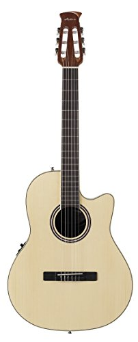 Ovation Applause Balladeer AB24CII-SPR Mid Depth Classical Guitar, Natural Spruce (Best Mid Range Acoustic Guitar)