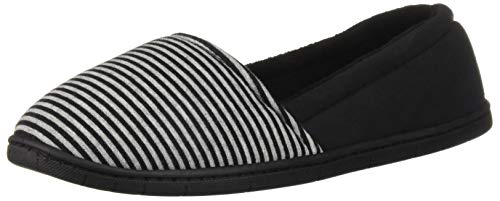 Line a Slipper Stripe Women's Dearfoams Black qtCwBB