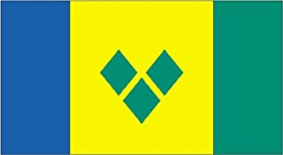 product image for Annin Flagmakers Model 197297 St. Vincent/Grenadines Flag 3x5 ft. Nylon SolarGuard Nyl-Glo 100% Made in USA to Official United Nations Design Specifications.