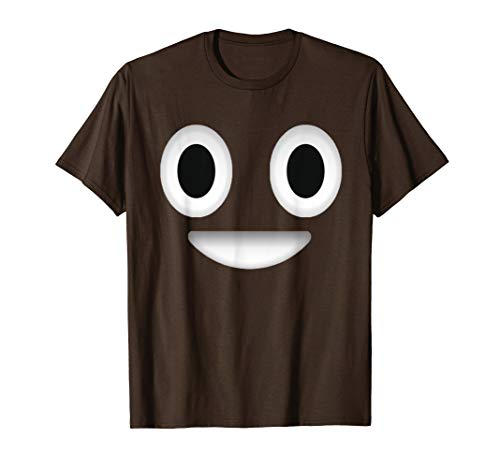 Funny Halloween Poop Emoticon Costume TShirt for Kids]()