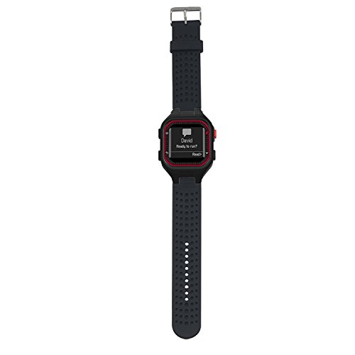 Replacement Band for Garmin Forerunner 25 GPS Running Watch Wristband Fitness Tracker for Smarwatch(Mans Strap) (Black)