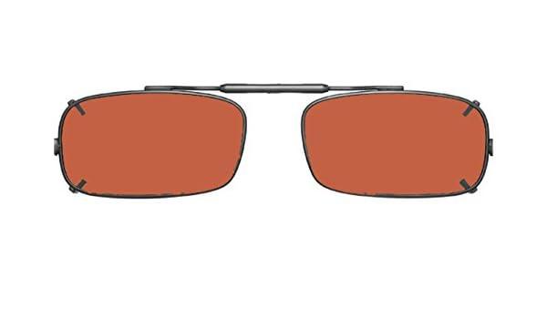 Visionaries Polarized Clip on Sunglasses - True Rec - Bronze ...