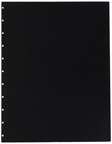 (GBC VeloBind Leather Look Premium Presentation Covers, Non-Window, Square Corners, Black, 50 Pieces Per Box (9742230))