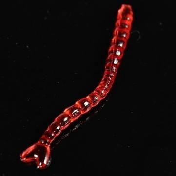 Pakhuis 20PCS 2.5cm la alta calidad Silicon creada por el hombre Bait Gusano de pesca de cebo señuelo Grub Red