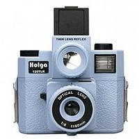 - Holga 120TLR TWIN LENS REFLEX 120 W/COLOR FLASH - Lt. BLUE