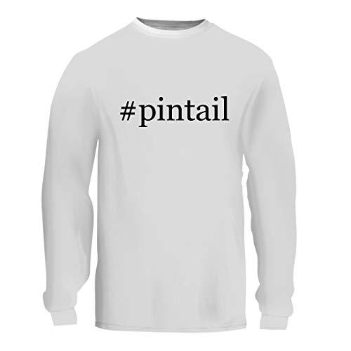 (#Pintail - A Nice Hashtag Men's Long Sleeve T-Shirt Shirt, White, Large)