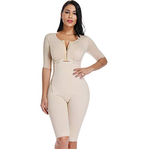 MISS MOLY Bodysuit Body Shaper Post Surgery Seamless Fajas Compression Garment Full Shapewear Nude (Best Compression Garments)