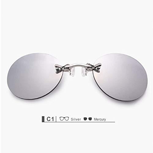 LONYENMA Clip en la Nariz Gafas de Sol Hombres Hacker Empire ...