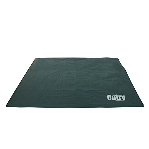 Outry Waterproof Multi-Purpose Tarp - Tent Stakes Included - Green- S - 4.9ft x 7.2ft / 1.5m x 2.2m, Lightweight Camping Picnic Ground Sheet Cover Cloth Mat Footprint Rain Fly Shelter Tarpaulin
