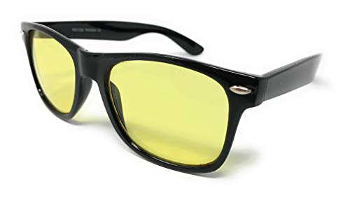 Sunglasses Classic 80's Vintage Style Design... ...... (Black, Yellow Driving)... ()