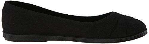 Women's Cozumel Fabric Solid Blowfish Linen Top Black Glo Shoe Flat Low dUIIzwq