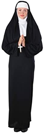 1940s Costumes- WW2, Nurse, Pinup, Rosie the Riveter Rubies Costume Womens Nun Costume $35.31 AT vintagedancer.com