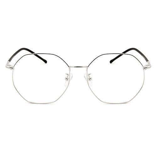 lunettes fatigue Argenté Lumière Blocage Verres femmes 1 Rétro Bleue Oculaire Transparents Anti De Hommes Lecture Cyxus À La lunettes 0STXXn