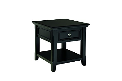 Ashley Furniture Signature Design – Greensburg End Table – 1 Drawer and Fixed Shelf – Vintage Casual – Black