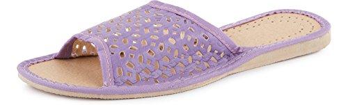 Plates Été Ladeheid Chaussures Claquettes Pantoufles Mules Femme LABR12 Violet Sandales Rq15qv