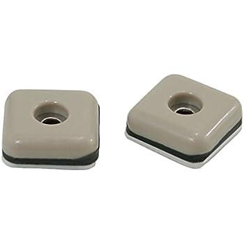 Shepherd Hardware 9240 1 Inch Square Adhesive, Slide Glide Furniture Sliders,  8 Pack