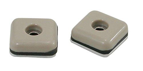 Square Slide - Shepherd Hardware 9240 1-Inch Square Adhesive, Slide Glide Furniture Sliders, 8-Pack