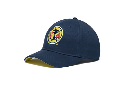 Fan Ink Limited Club América Federación Mexicana de Fútbol Asociación Adjustable Snapback Hat, Navy, One Size