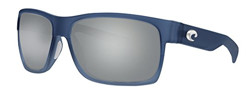 Costa Half Moon Sunglasses Bahama Blue Fade Frame Silver Mirror 580G Glass - Moon Blue Sunglasses