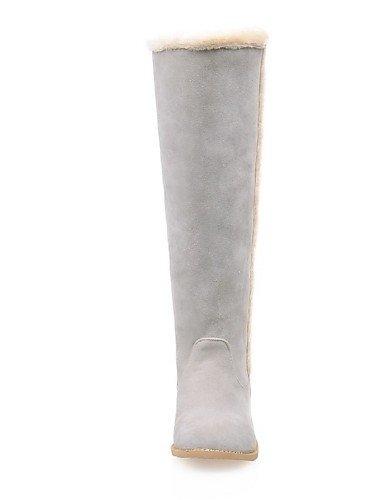 Botas Gray Tacón Mujer Xzz us9 De Robusto La 5 Gris Redonda Cn43 5 Vestido 10 Eu42 Amarillo Zapatos Casual Uk7 A Gray 5 Punta us10 Moda Uk8 Beige Cn42 8 Vellón 5 Eu41 tqq0r4Tw
