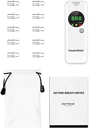 Ketone Breath Meter, Professional Portable Ketone Breath Tester, Digital Ketone Breathalyzer with 10 Mouthpieces (Color2) 8