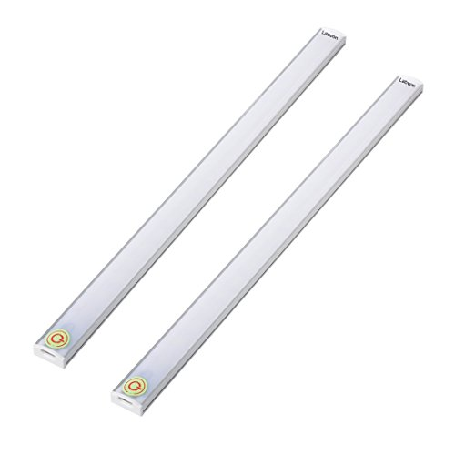 Kimitech LED Touch Light, Adjustable brightness USB charging cable Under Counter Lighting Under Cabinet LED Lighting Over Desk Lighting, 2-pack, White (White)