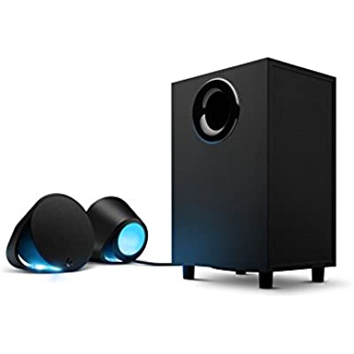 Logitech G560 Gaming Ultra Surround Sound Speakers with Game Driven RGB Lighting  Plug