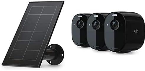 Panneau Solaire Pour Essential et 3 Caméras Essential - Noir