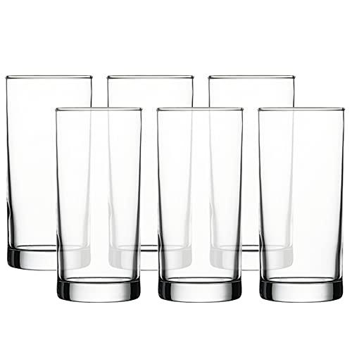 Pasabahce Istanbul Beer/Juice/Water Glass Tumbler 380 ml 6 Pcs Set, Transparent