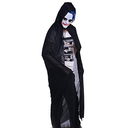 Gotian Adult Turtle Neck Bronzing Cloak Coat Wicca Robe Great Halloween Party Ghost Clothes (L)