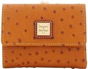 Dooney & Bourke Ostrich Embossed Leather Framed Credit Card Wallet