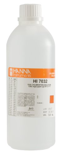 (Hanna Instruments HI7032L 1382 mg/L (ppm) TDS Calibration Solution, 500mL Bottle)