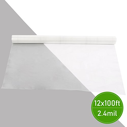 Agfabric 2.4Mil Plastic Covering Clear Polyethylene Greenhouse Film UV Resistant for Grow Tunnel and Garden Hoop, Plant Cover&Frost Blanket for Season Extension,Keep Warm and Frost Protection 12x100ft by Agfabric (Image #3)