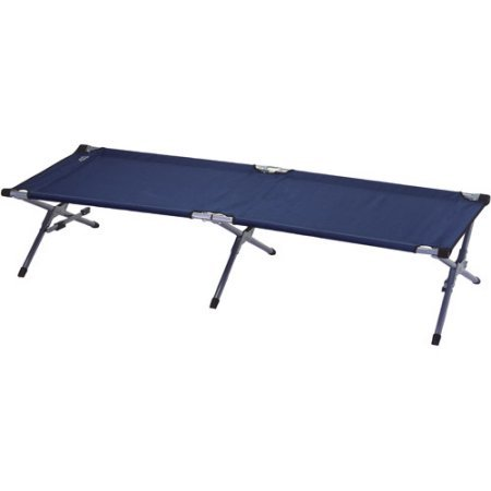 Rio Adventure Extra Large Fold-Out Cot with Side Storage - Supports up to 350 lbs.