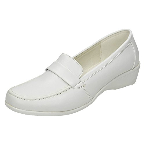 Spot on Damen Mokassinstiefel, Weiß - Weiß - Größe: 40