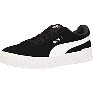 PUMA womens Carina Sneaker, Puma Black-puma Black-puma Silver, 9 US
