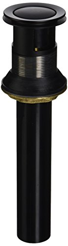 Danze DA505219PBS 1 1/4-Inch 50/50 Touch Assembly for Lavatory Drains, Stain Black