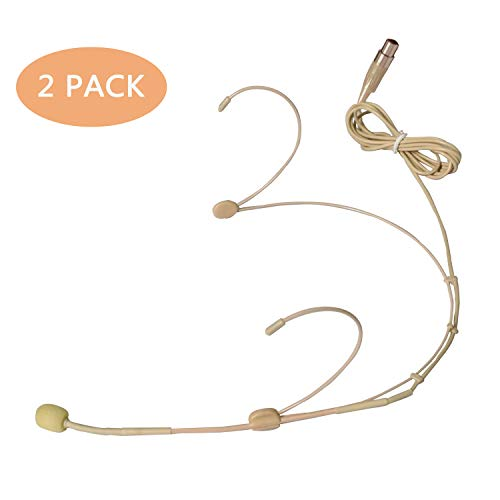 - SHENGGU 2 Pack Ear-hook Headset/Headworn TA3F Microphone Mini 3 Pin XLR Plug Omni-Directional Smallest Cartridge Capsule Mic for Shure Wireless Transmitter