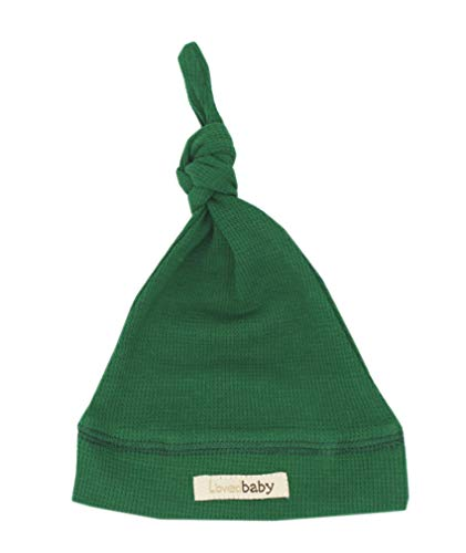 Cloth Green Cap (L'ovedbaby Unisex-Baby Organic Cotton Knotted Cap (0-6 Months, Thermal Emerald))
