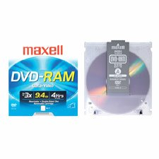 MAX636045 DVD RAM Disk, 3X, 9.4 GB, Double Sided, Branded