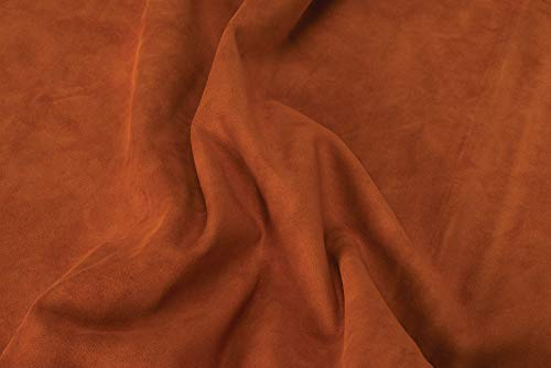Suede Leather, Rust (Brown Spr Leather)