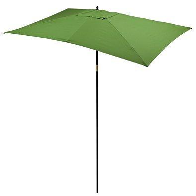 9.5-Foot Rectangular Hardwood Umbrella (Olive)