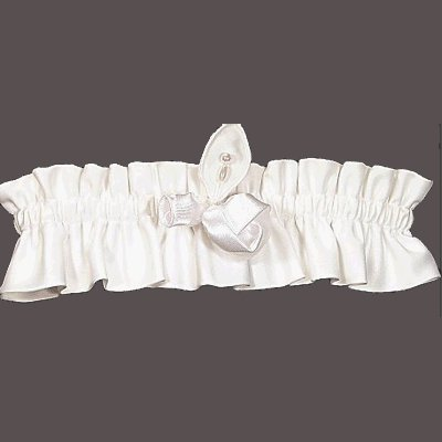 Amour Garter Set By Beverly Clark Wedding Accessories Collection WHITE