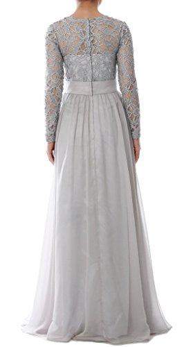 der Braut langen rmeln mit Linie Chiffon HWAN Lavendel eine Spitze Kleid Abendkleider Mutter Frauen wYqzXvXH