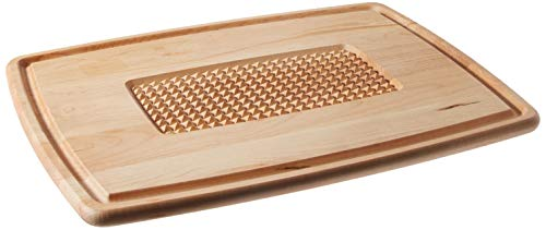 Snow River USA 7V03504 Hardwood Maple Pyramid Cutting Carving Board with Juice Groove 15