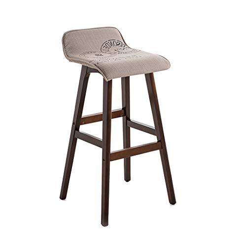Amazon Com Solid Wood Barstool Dining Chair High Stool