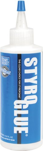 FloraCraft Styrofoam Accessories StyroGlue, 4-Ounce