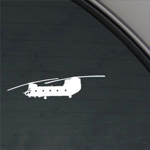 Ch 47 Chinook Us Army Helicopter White Sticker Decal Car Window Wall Macbook Notebook Laptop Sticker Decal