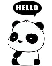 ملصق جداري مكتوب عليه HELLO Panda DIY Switch ملصقات جدارية من الفينيل